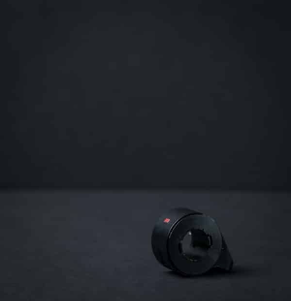 Throttle for electric scooter with black background