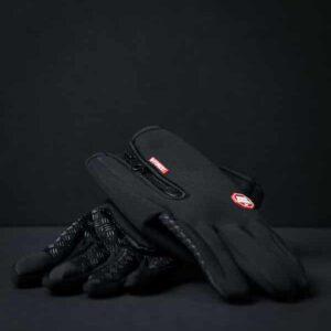 Black gloves with black background