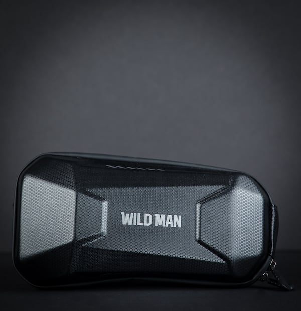 A Wild Man bag with black background