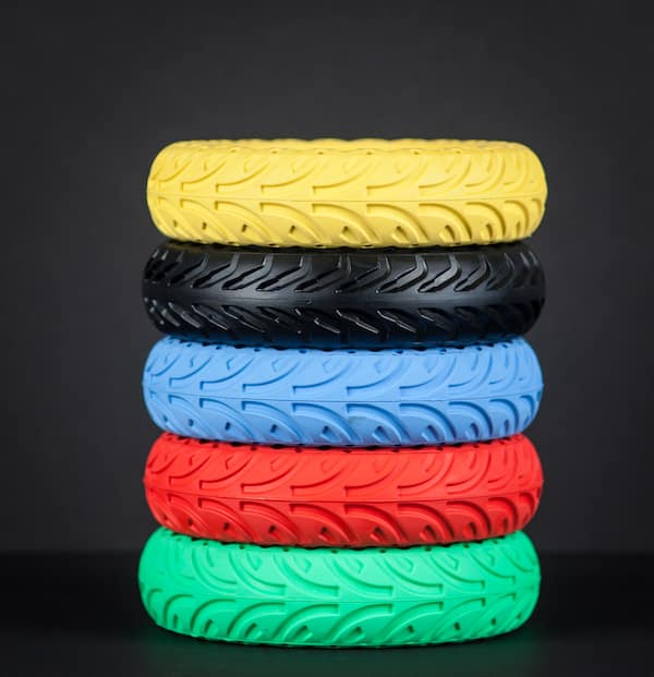 Honeycomb tires in many colors with black background